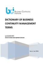Dictionary of business continuity management terms ( www.sites.google.com/site/thuvientailieuvip )