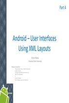 Investigating about android - chapter 5 - user interfaces