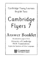 Tests flyer 7 answer booklet