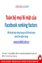 Bi mat cua facebook xep hang by vinalink