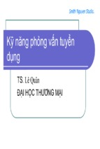 Kỷ năng phỏng vấn tuyển dụng ( www.sites.google.com/site/thuvientailieuvip )