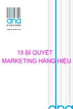 18 bí quyết marketing hàng hiệu ( www.sites.google.com/site/thuvientailieuvip )