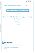 Exposure to floods, climate change, and poverty in vietnam