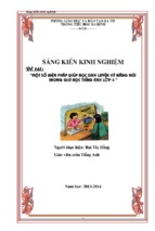 Skkn tiếng anh lớp 4