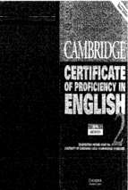 Cambridge certificate of proficiency in english 2 (có link tải file nghe ở trang cuối)