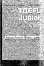 Master TOEFL Junior advanced language form and meaning