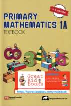 Singapore primary mathematics 1a textbook