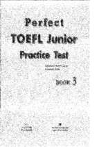 Perfect toefl junior practise test book 3
