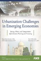 Urbanization challenges in emerging economies energy and water infrastructure; transportation infrastructure; and planning and financing