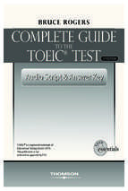 Complete guide to toeic test   answer_keys